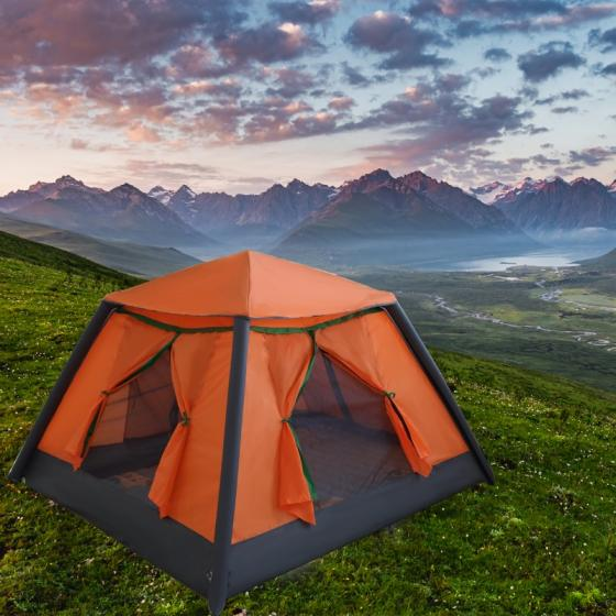 Manufacture Automatica Inflatable Camping Tent Waterproof Poleless for 3-4 People