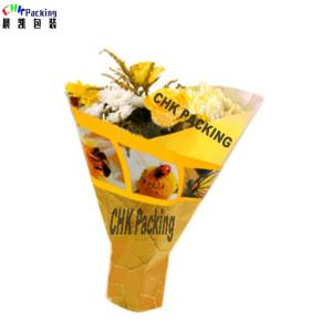 Wholesale bottomer: Custom Lily Flower Floral Bouquet Sleeve with Bottom Sealed/Perforated Plastic Vegetable Sleeve