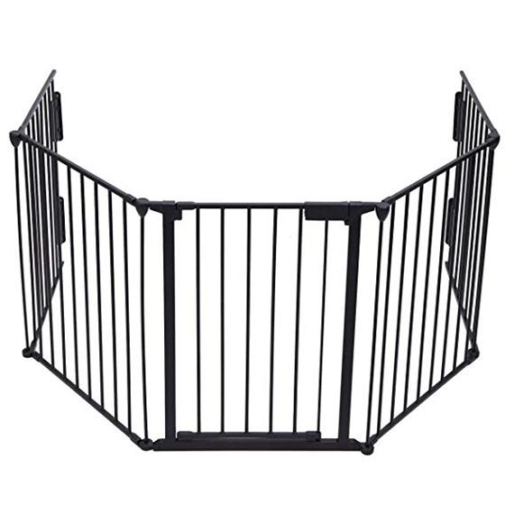 Fireplace Fence Baby Safety Walk-Through Door,Metal Fire Gate/Wide Barrier Gate Pets Dog Cat Christm