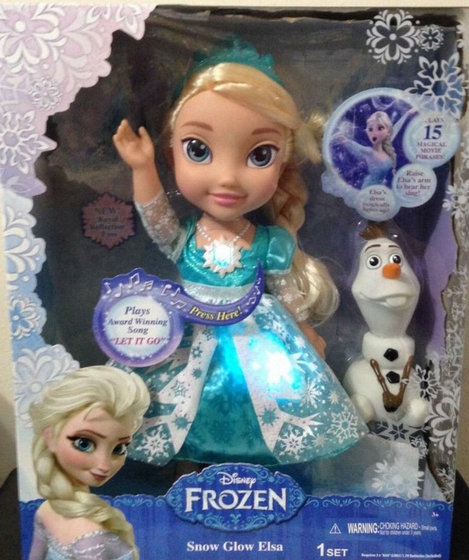 New Disney Frozen Snow Glow Elsa Doll Dress Lights Up And