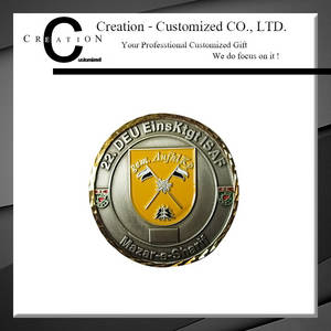 Wholesale challenge coin: Two Tone Plated Edge Challenge Coin
