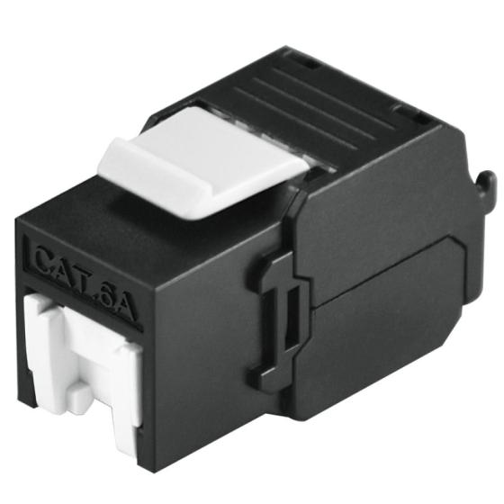 Cat6A Unshielded 500Mhz Tool-Free Style Keystone Jack with Shutter