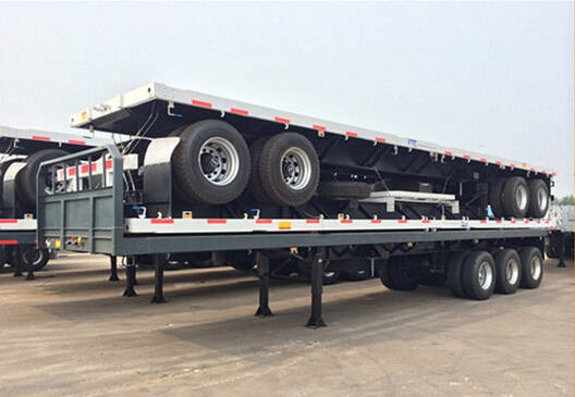 Sell competitive prcie 20ft container trailer 40ft flatbed semi trailer