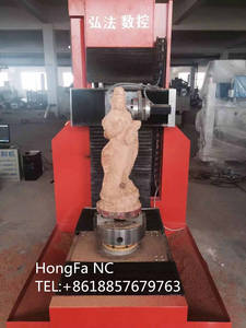 Wholesale 5 axis cnc router: One Head 5 Axis CNC Router Hongfa CNC Machine Mini Engraving Machine 8050 Also for Stone Carving