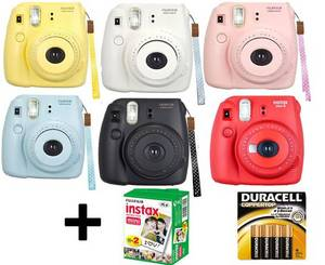 Wholesale battery: ORIGINAL NEW  Fuji Instax Mini 8 Fujifilm Instant Film Camera +Battery +20 Film All Colors Brand New
