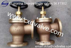 Wholesale jis valve: JIS Marine Bronze Angle Valve F7302 5K