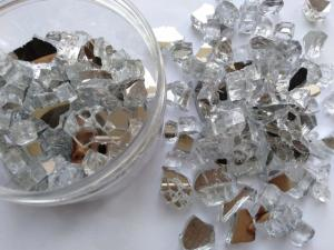 Wholesale decorative hardware: Reflective Fire Glass Chips