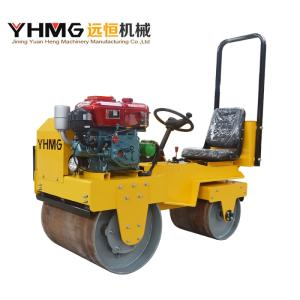 Wholesale 720kg diesel engine: Road Roller with Double Drum and Water-Cooled Engine for Compaction