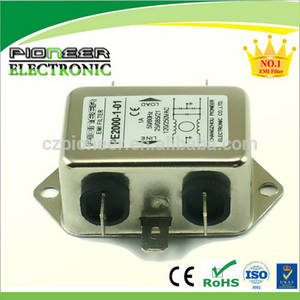 Wholesale wire drawing equipment: PE2200B-6-01 6A 120/250VAC LED Electric Line Rfi Filter
