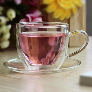 Wholesale coffee cup: Glass Coffee Cup with Saucer