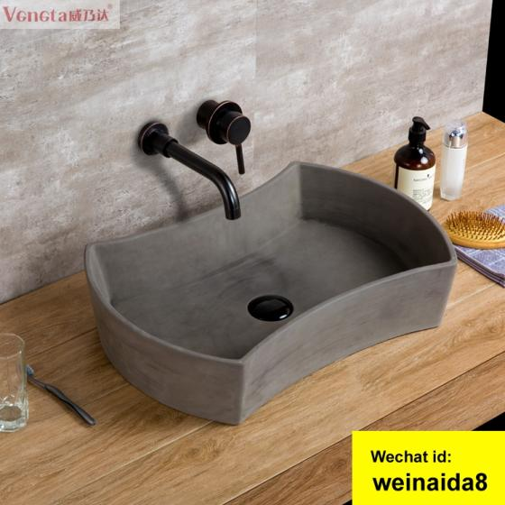 Manufacturer High-grade Art Basin Sanitary Products Countertop Bathroom Concrete Hand Wash Sink