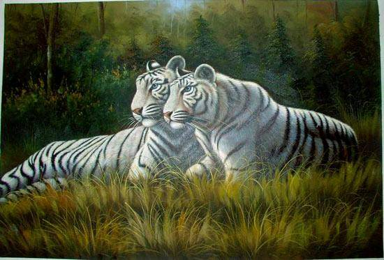 Dafen Oil Painting On Canvas Tiger