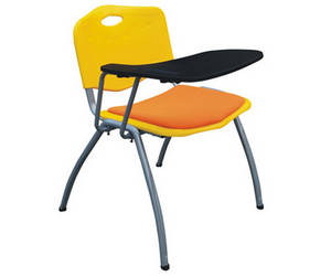 Wholesale School Furniture: Thick Padded Cushion Chair Ventilated Seater Conference Chair with Writing Tablet