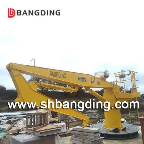 Sell hydraulic knuckle boom marine deck crane