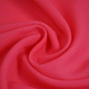 Wholesale crepe: 100% Polyester Crepe De Chine CDC Blended Yarn 90gsm Small Quantity