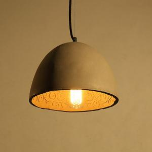 Wholesale chandelier light: Trumpet Modern Cement Pendant Lamp Iron Chandelier Light for Restaurant