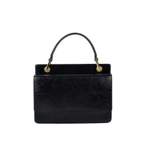 Wholesale lady: Black Color Rectangular Ladies Leather Handbag