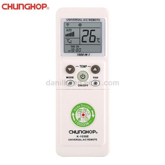 Chunghop 1000 in 1 LED Display Universal Air Conditioning Remote Control with Slide Design