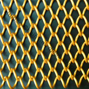 Wholesale brass wire mesh cloth: Alumium Flexible Chain Link Mesh Curtain with Various Color for Space Divider