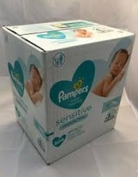Wholesale baby diapers: Pampers Sensitive Baby Diaper Wipes, 7 Packs, 448 Count