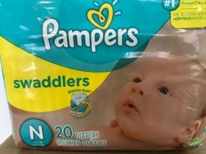 Wholesale diaper: Pampers Swaddlers Disposable Diapers - Size N Newborn 12 Packs of 20 Total 240
