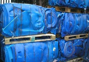 Wholesale hdpe drums regrind: HDPE Drum Baled & Regrind