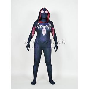 Wholesale cosplay: Gwenom Cosplay Costume Femme Symbiote Venom Spider Gwen Stacy Spiderman Superhero Suit