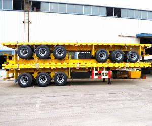 Wholesale 40ft container semi trailer: 40 Ft Flatbed Container Semi Trailer