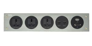 Wholesale wall panels: Aluminum Panel Power Media Hub Tabletop Socket Outlet Wall Mounted Socket