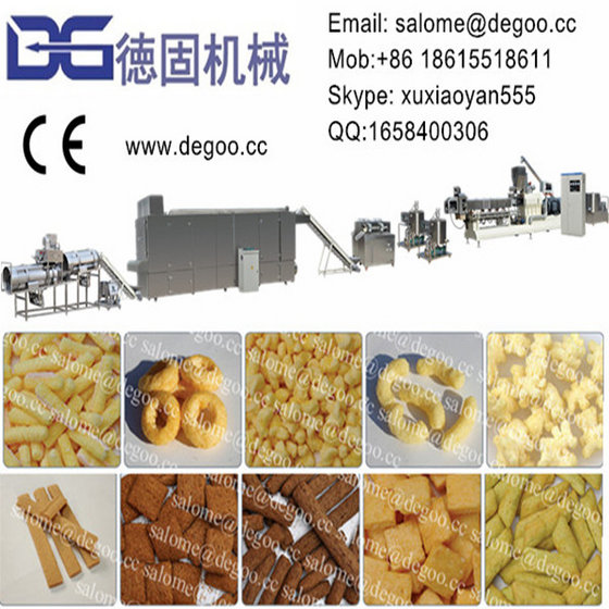 Corn Puff Cheese Ball Corn Stick Inflating Snack Food Extruder Machine Line