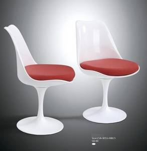 Wholesale side bar: Antique Bar Chair White Tulip Side Chair with PU Leather Cushion