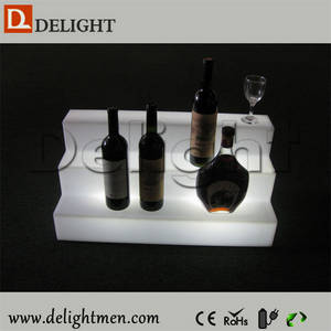 Wholesale wine rack: Illuminated Remote Control Battery Power 16 Color Changing LED Wine Rack for Bar