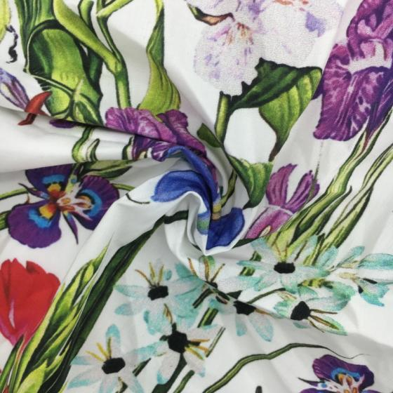 Sell 2018 fashion digital printed 100% cotton woven fabric with high quality for