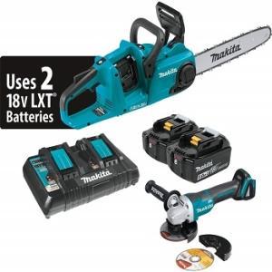 Wholesale Electric Saws: New Latest Makita XCU03PTX1 18V X2 (36V) LXT Lithium-Ion Cordless Brushless 14 Chain Saw Kit