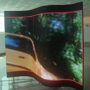 Wholesale rubber magnet: P10 Flexible Magnetic Rubber LED Screen