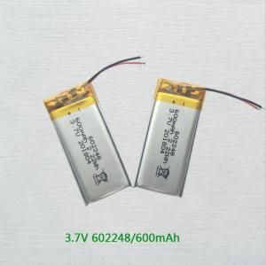 Wholesale lithium polymer battery: Wholesale 3.7v 600mah Rechargeable Lipo Battery Lithium Polymer Battery 602248 for Hand Warmer