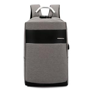 Wholesale locks: Travel Laptop Backpack with USB Charging Port +Anti-Theft Lock [Water Resistant] Slim Durable Colleg