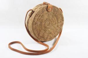 Wholesale Picnic Bags: Natural Round Rattan Bag