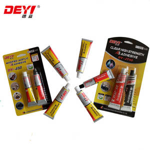 Wholesale chemical gas protection: Dy-JT40 Transparent Modified-Acrylic AB Adhesive Glue