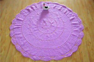 Wholesale Carpet & Rug: Cotton Round Blankets Hand Crochet Throw Rug Custom Rug