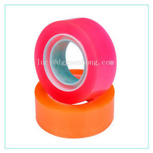 Wholesale manual glue dispenser: Stable 48mm BOPP Adhesive Tape , Light Weight Coloured Packaging Tape