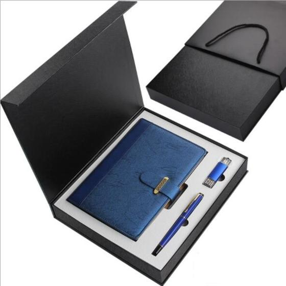 Wholesale Corporate Gift Set Stationery Set Office Gift Pen USB Set with Box