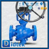 Didtek Cast Steel RB Trunnion Mounted Ball Valve with Gear Box
