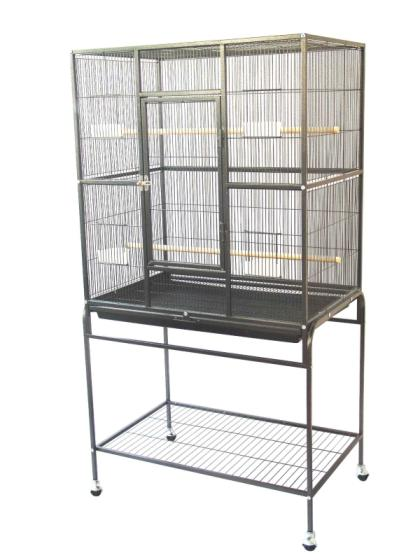 Large Size Parrot Bird Iron Flight Cage with Wheels