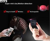 Super Mini HD WIFI Audio IR Camera with Rechargeable Battery Support 128G SD Card and Remote Control