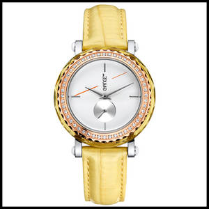 Wholesale quartz watch: Woman Leather Wrist Watch Set with Japan Quartz Movement