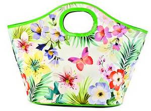 Wholesale container bag: Warm Heat Insulation Lunch Bag Outdoor Food Container Thicker Bag(Butterfly Pattern)