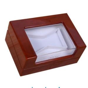 Wholesale Gift Boxes: Glossy Lacquered Wood Box with Acrylic Window Glossy Lacquered Wood Box with Acrylic Window Glossy