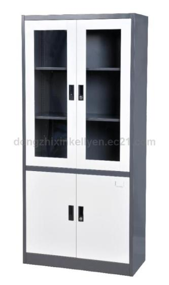Upper Glass Door Metal Steel Cabinet