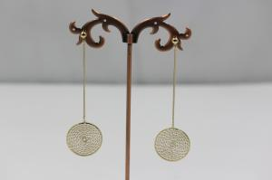 Wholesale designer jewellery: Gold Long Earring